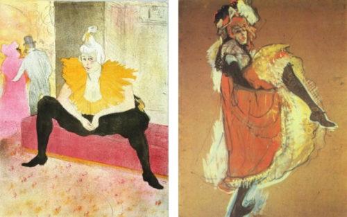 """Toulouse-Lautrec - """"Die Sitzende Clownesse"""" - """"Jane Avril tanzend"""""""