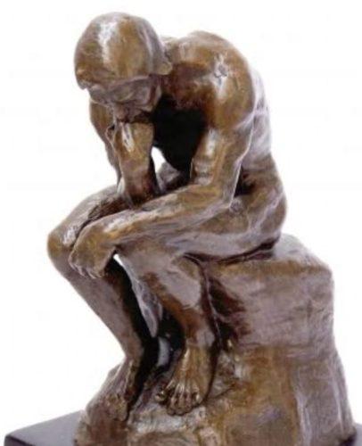 Der Denker - Auguste Rodin, Skulptur in Bronze