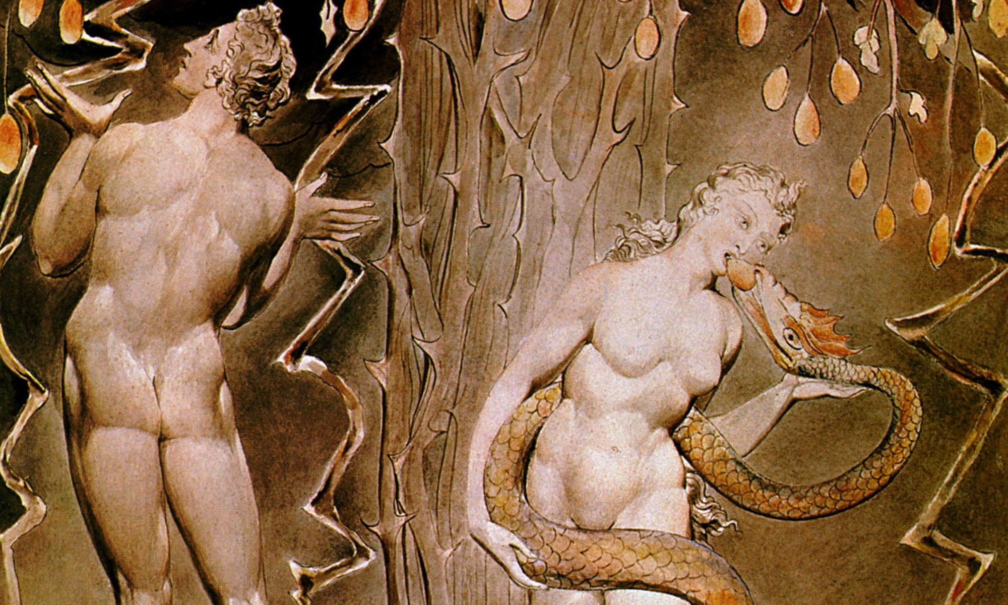 Blake - Temptation and Fall of Eve-Detail
