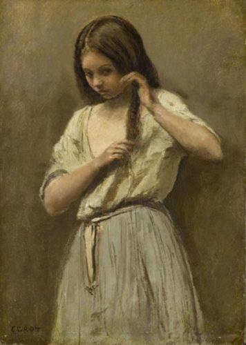 """Corot - """"Junges Mädchen bei der Toilette"""""""