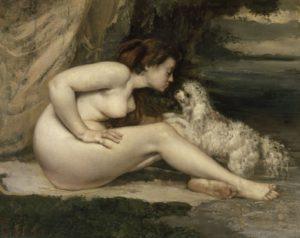 Courbet-Femme nue au chien