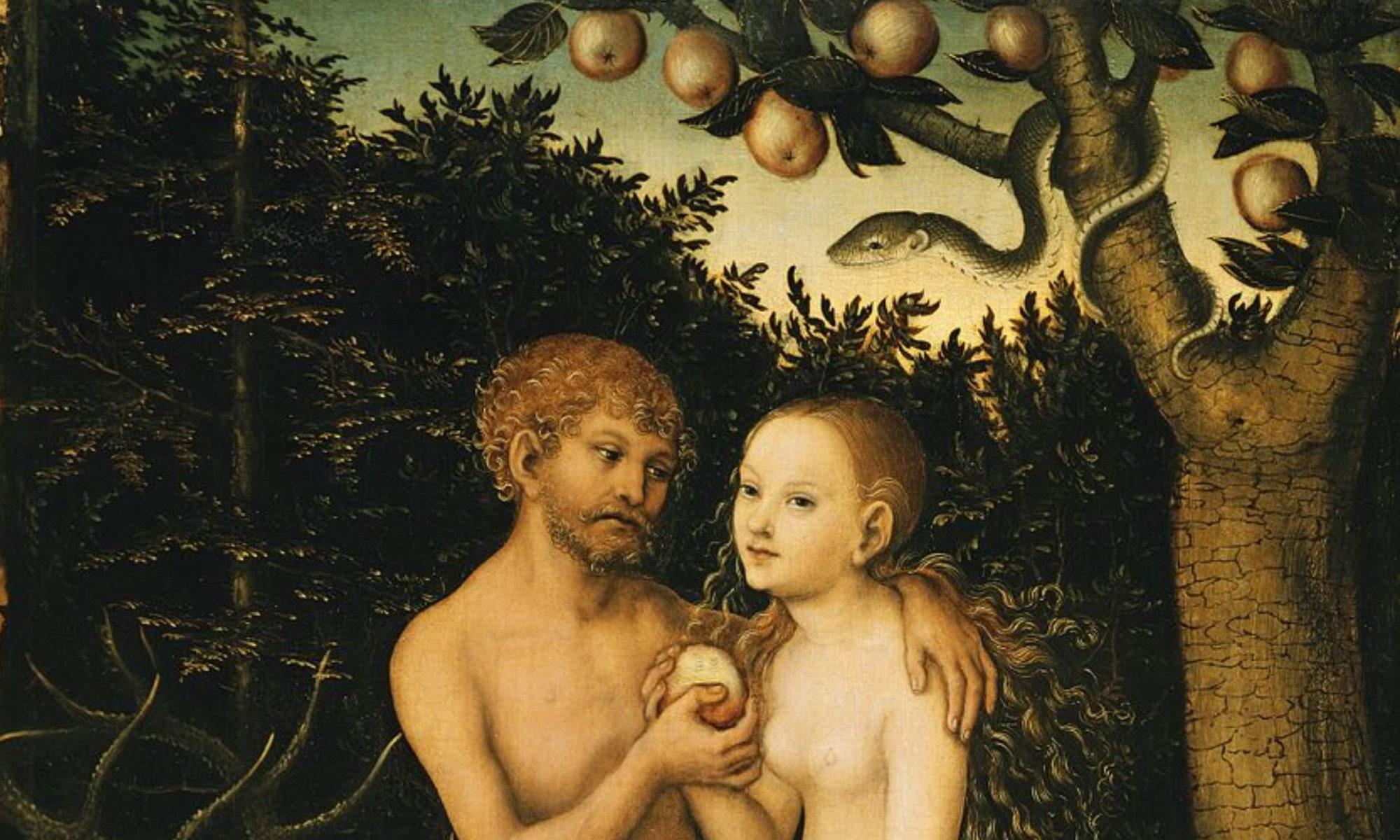 Cranach-Adam und Eva - Detail