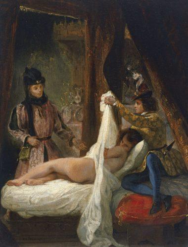 Delacroix - Der Herzog von Orléans zeigt seine Geliebte