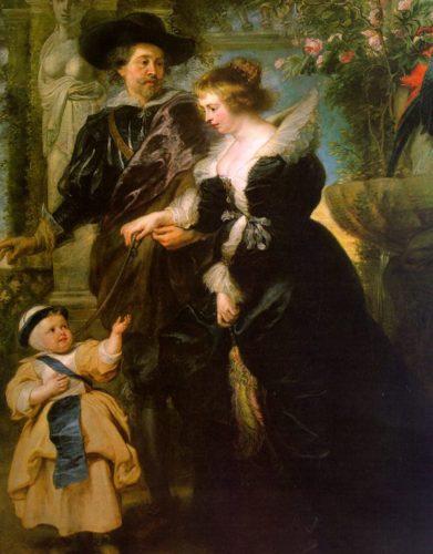 """Rubens """"Der Künstler mit seiner Frau Hélène Fourment und ihrem Sohn Peter Paul"""""""