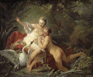 François Boucher-Leda und der Schwan 1742
