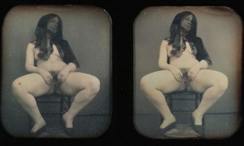 Französischer Photograph - Verschleierte Frau um 1850