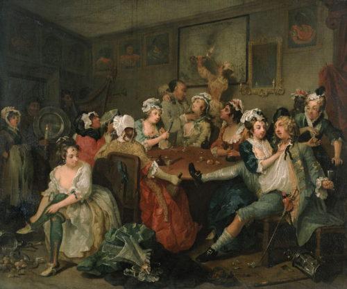 Hogarth - Szene in der Schenke