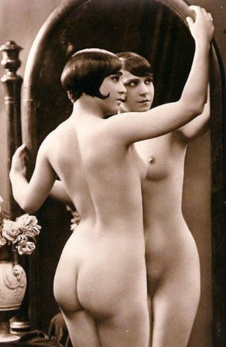 """Julien Mandel - """"Akt mit Spiegel III"""" um 1920"""