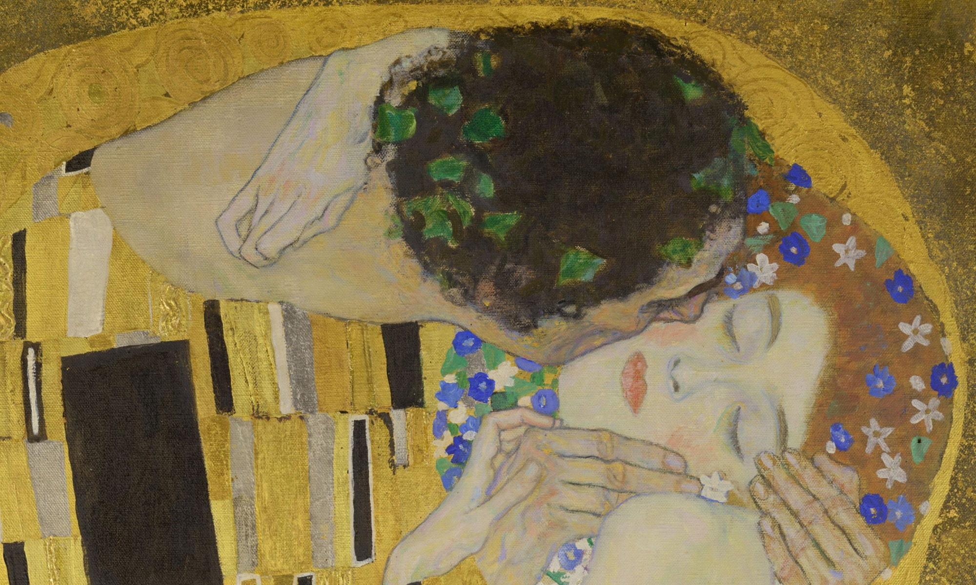 Klimt - der Kuss - Detail