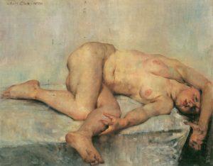 Lovis Corinth - Liegender weiblicher Akt 1907