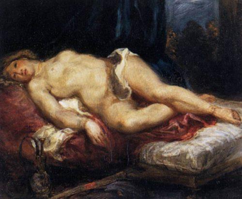 Delacroix - Odaliske auf einem Diwan
