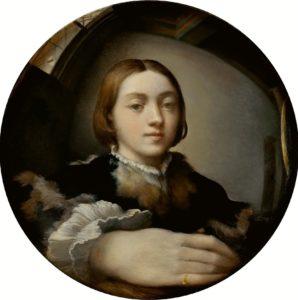 Parmigianino-Selbstbildnis im konvexen Spiegel