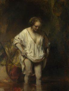 Rembrandt - Hendrickje badend 1654