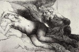 Rembrandt -Jupiter und Antiope 1659