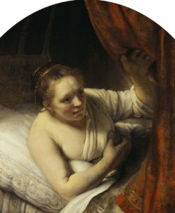 Rembrandt-junge Frau im Bett