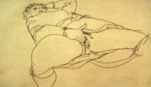 "Schiele-""Masturbierende Frau"""