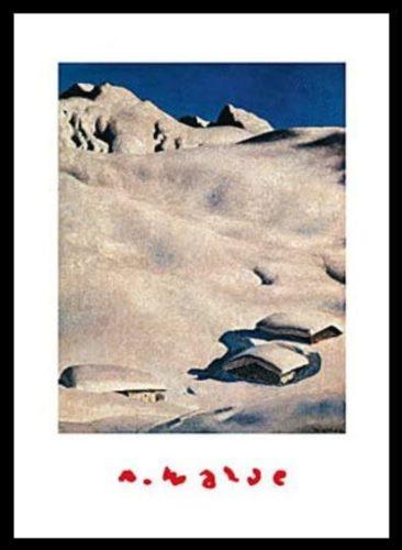 """Poster """"Almen im Schnee"""""""