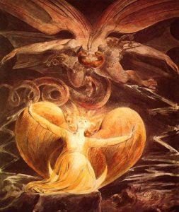 William Blake-Der große rote Drache und die Frau mit der Sonne bekleidet