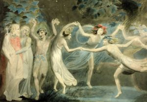 Blake-Oberon, Titania and Puck with Fairies Dancing