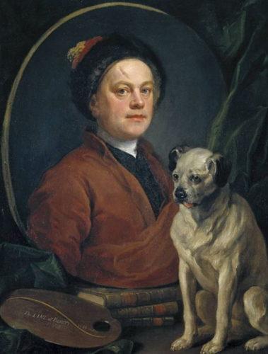 William Hogarth - Selbstporträt
