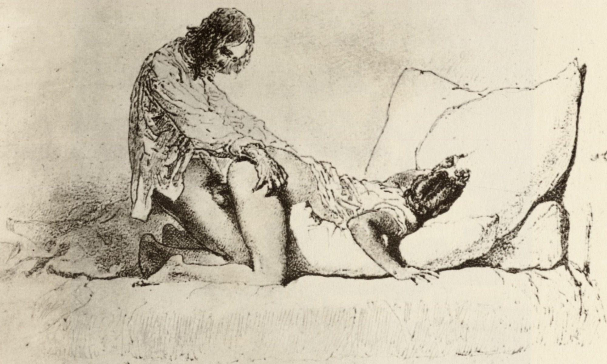 Zichy - Bildzyklus »Liebe«, Blatt 25