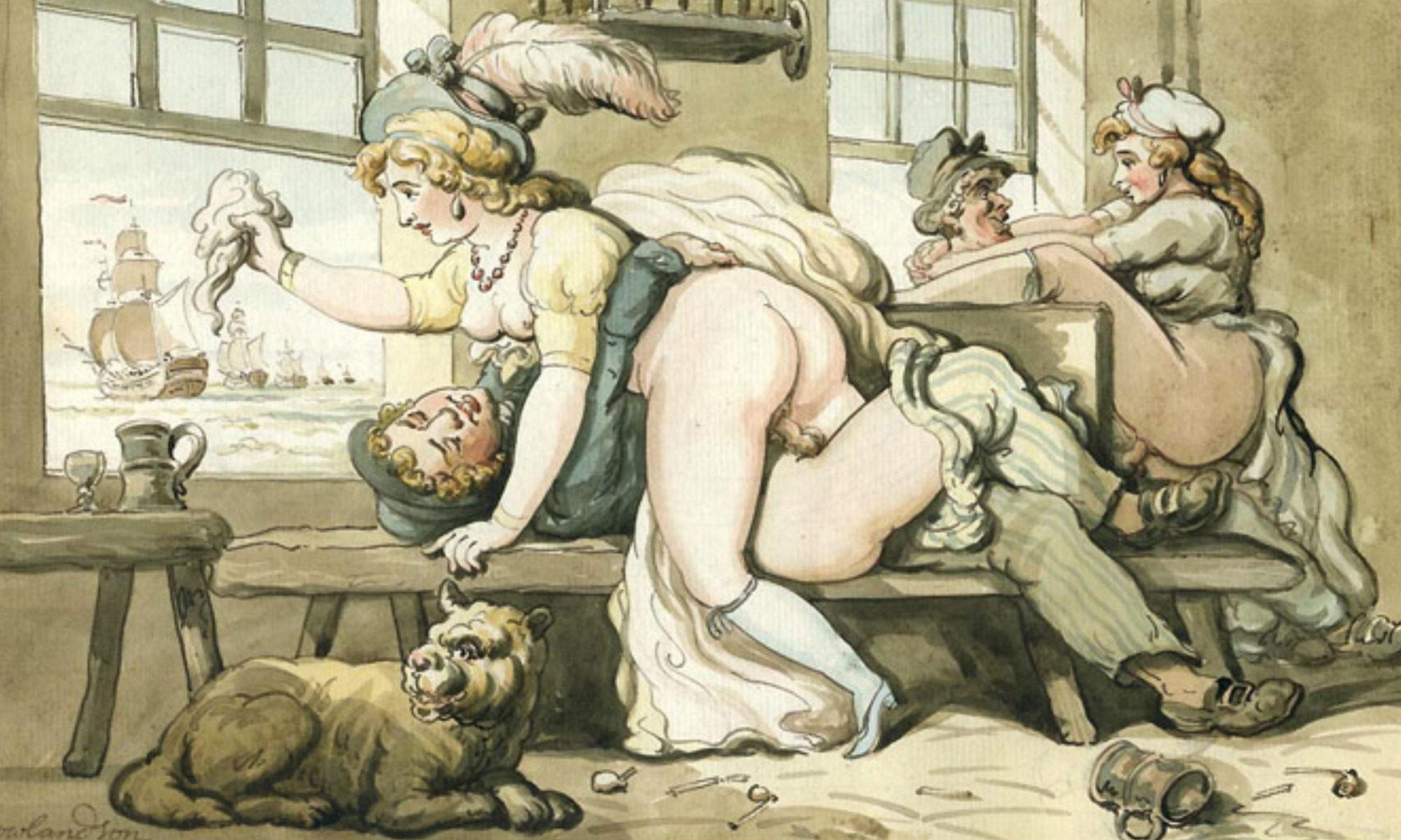 Thomas Rowlandson - erotische Karikatur